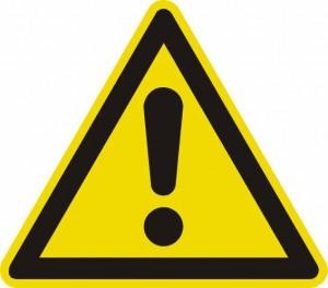 Warnschild für Gefahrenstelle