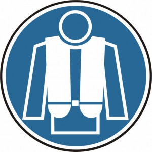 Gebotsschild - Rettungsweste tragen